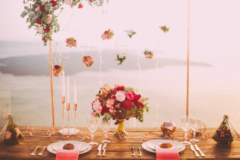 rosegold lac wedding