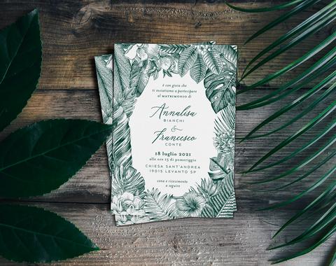jungle leaf invitation