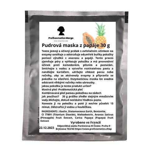 Pudrová maska z papáje pro mastnou  problematické pleť 30g