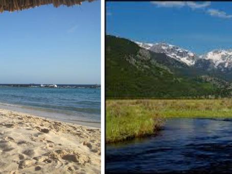 Beach versus Mountains, part 2
