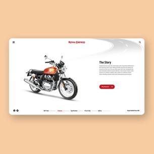Website Design Concept for Royal Enfield