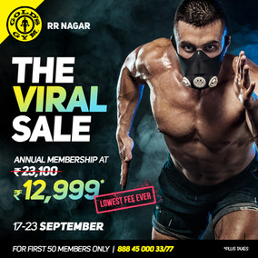 Sale Campaign for Gold's Gym