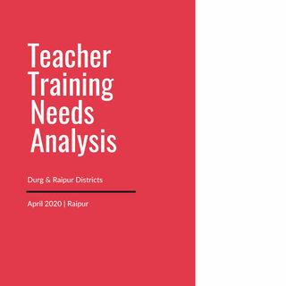 Teacher Training Needs Analysis Report - Raipur