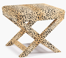 Leopard bench