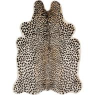 Cheetah Faux Cowhide Black Area Rug