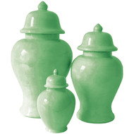 Green ginger jars