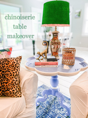 Chinoiserie Table Makeover
