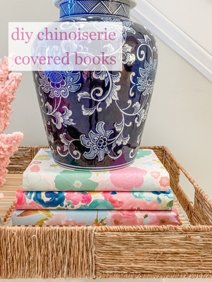How to Make Covered Chinoiserie Books