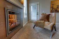 Fireplace with mantle