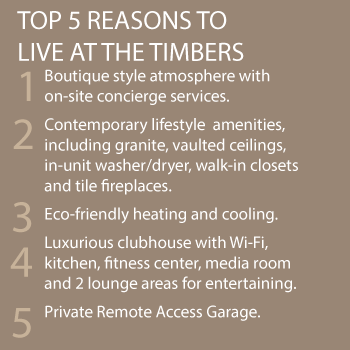 There are many reasons to live at Timbers Apartments