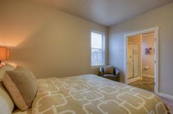 Master bedroom and bath