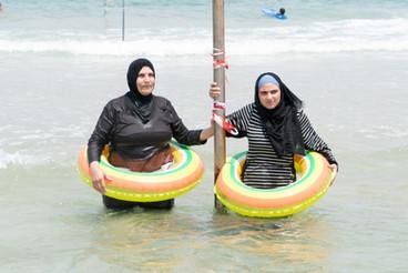 Arab Women at the Beach