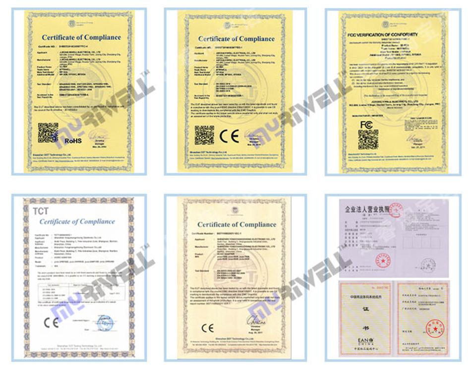 сертификаты качества Myriwell.net.ua