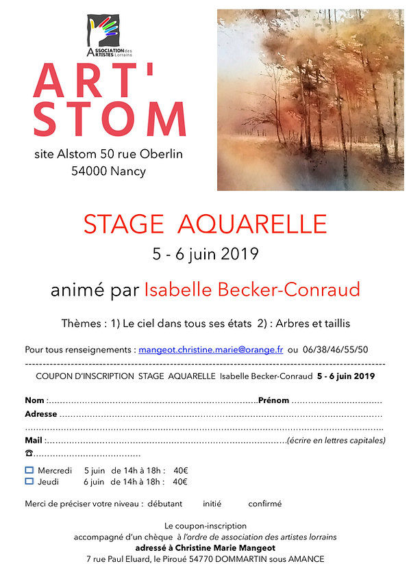 Isabelle Becker Conraud STAGE Art'Stom 2