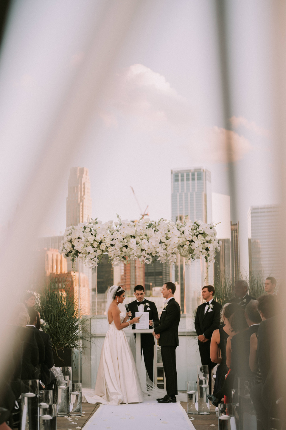 Holly Alex Tribeca Rooftop Wedding