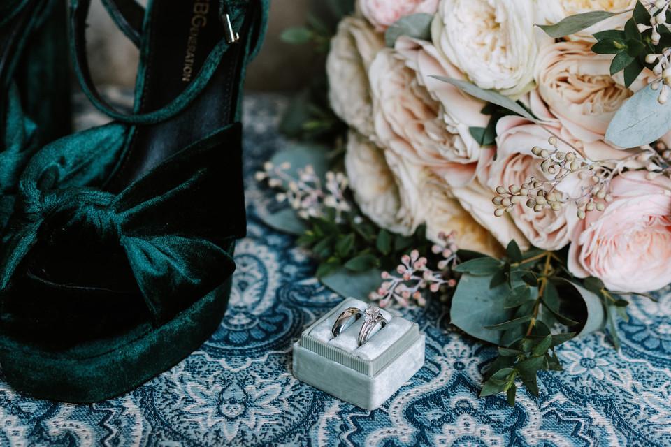 Katina Josh Milling Room Wedding