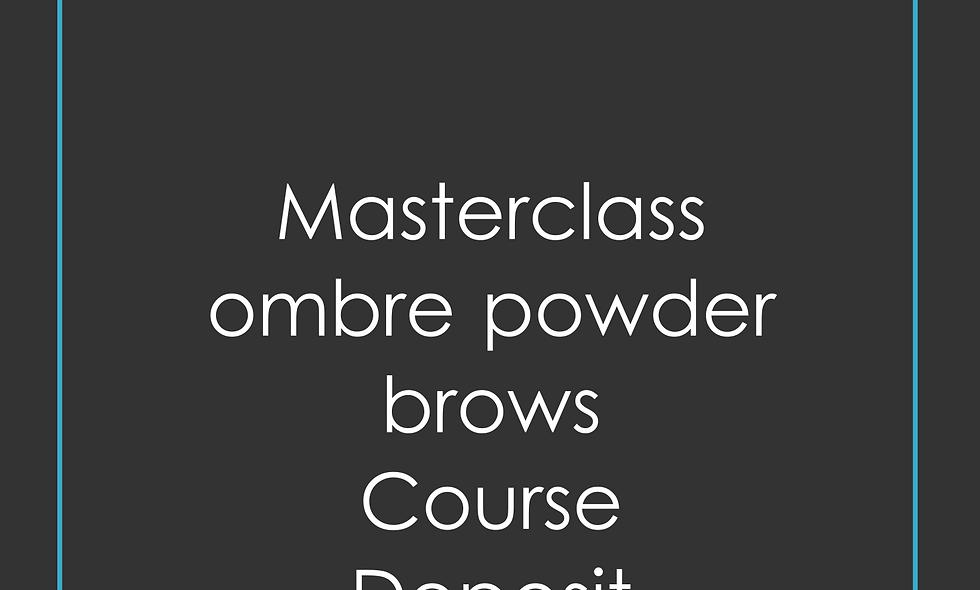 Deposit Masterclass ombre powder brows Training
