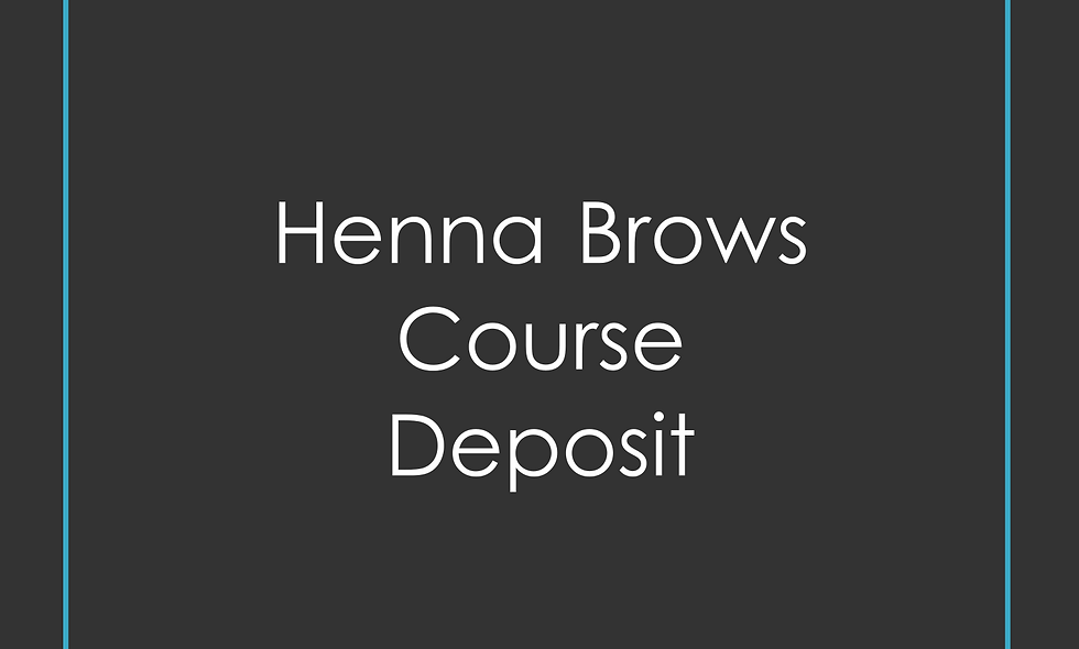 Deposit Henna Brows Training