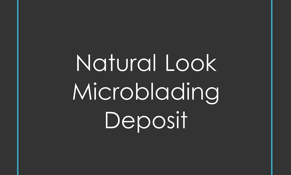 Deposit Microblading natural look