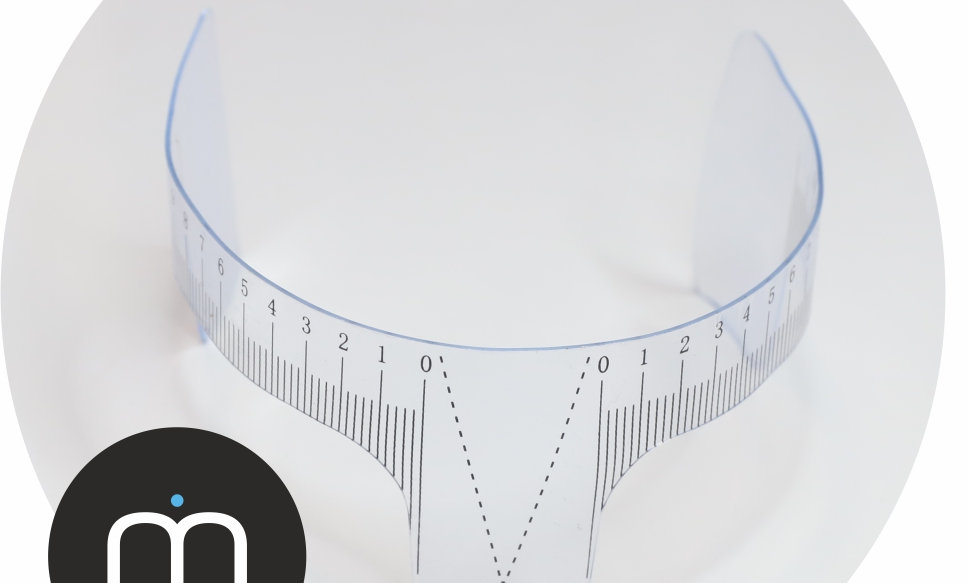 Eyebrow Measurement Ruler