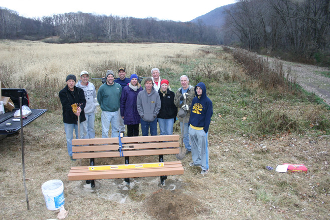 Jen Stec Memorial Bench Installed