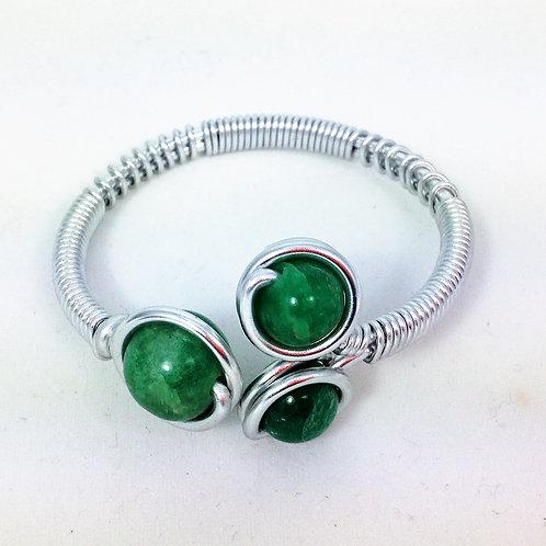 bracelet aluminium tryo amazonite