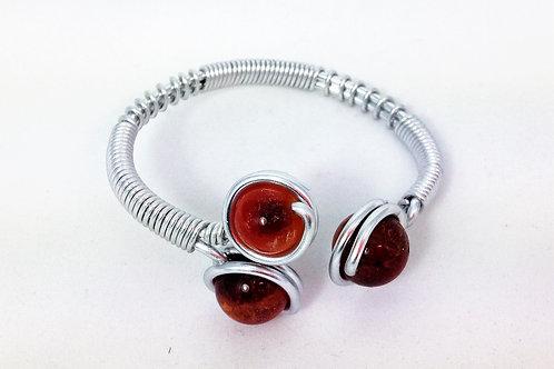 bracelet aluminium tryo cornaline