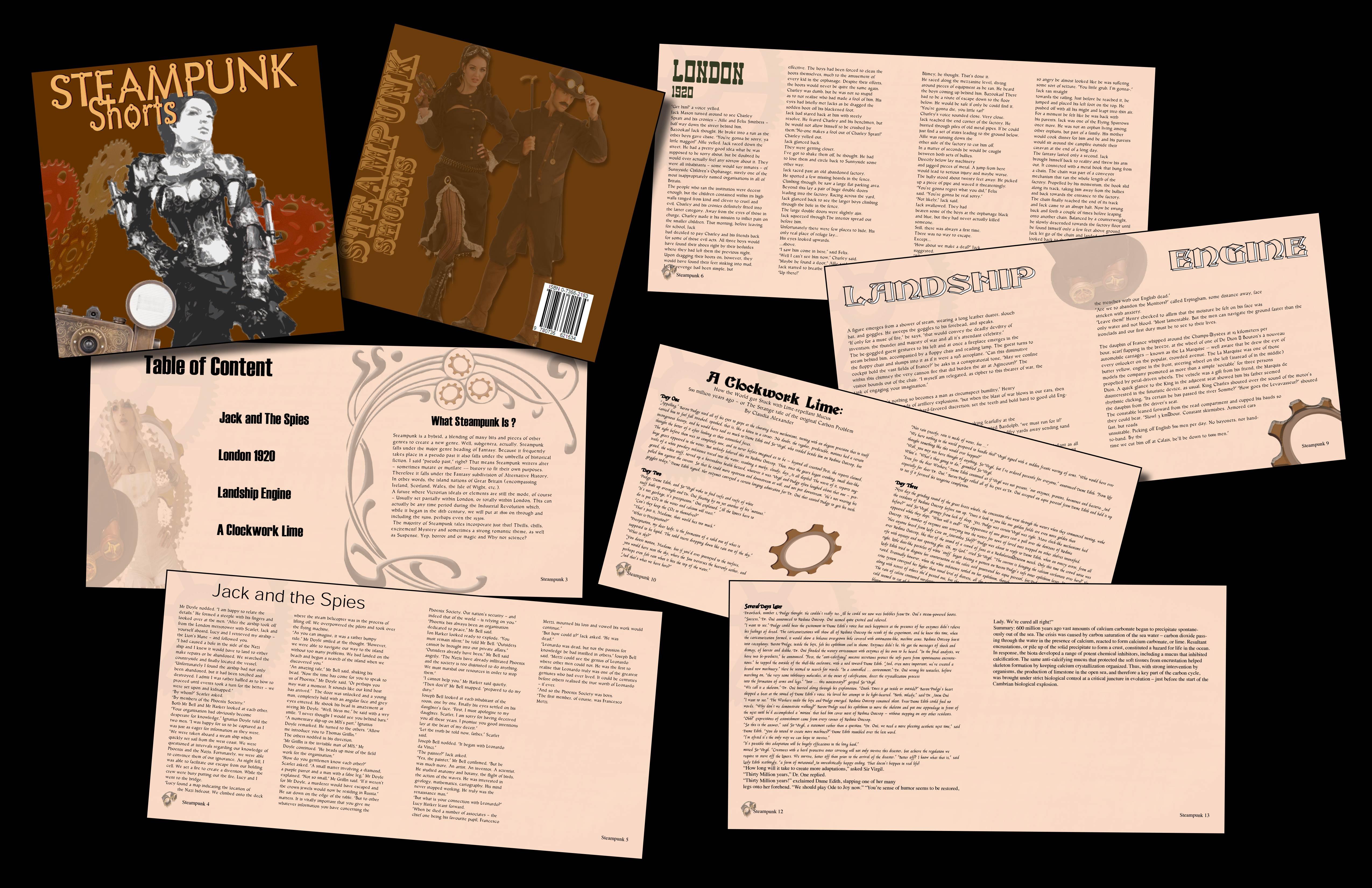 Steampunk Book-layout