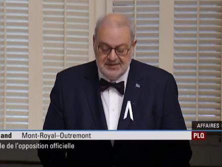 Pétition pour la nouvelle école présentée et déposée à L'Assemblée nationale du Québec