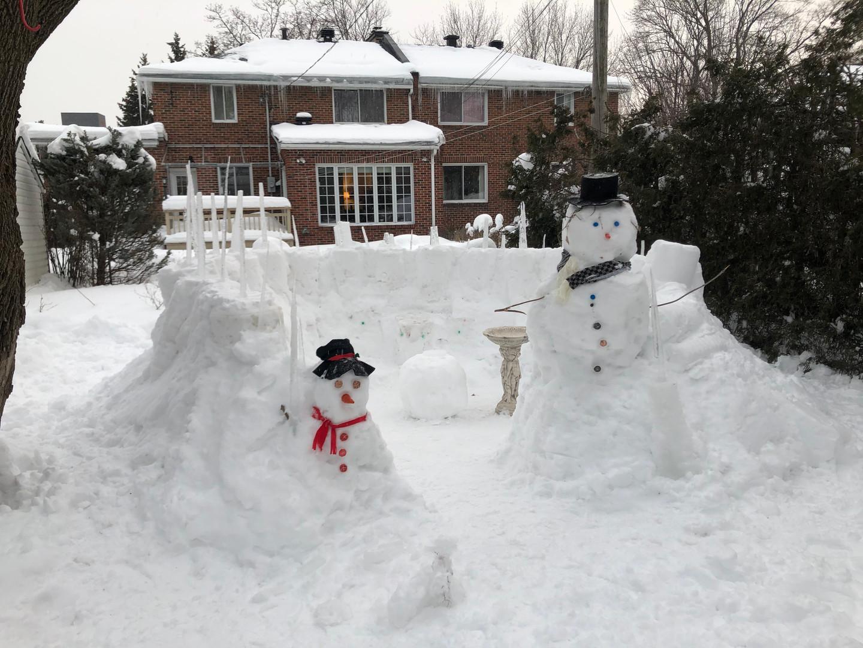 Evolution des bonshommes de neige
