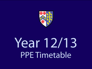 Year 12/13 PPE Timetable