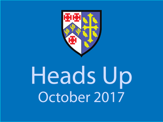 Heads Up Newsletter: October 2017
