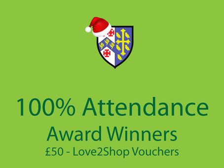 100% Attendance Award Winners