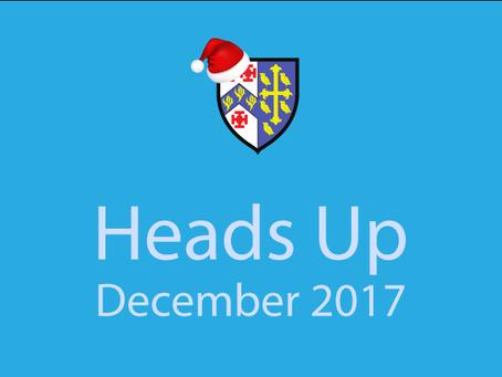 Heads Up - December 2017