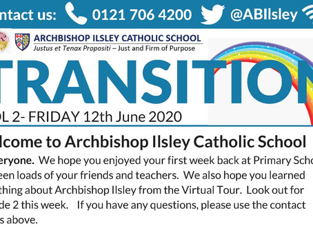 Year 6 into 7 - Transition Newsletter Volume 2