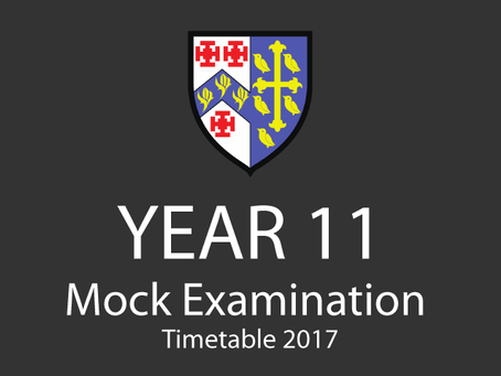 Year 11 Mock Examination Timetable