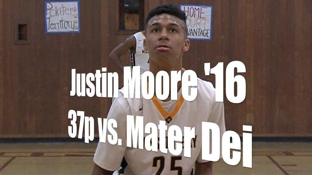 2016 PG Justin Moore is one of the top players in San Diego; photo courtesy of Sports on the Side
