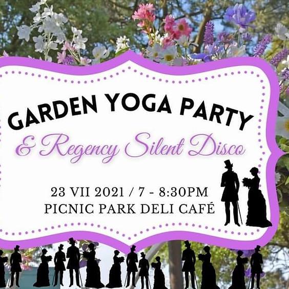 Garden Yoga Party + Regency Silent Disco