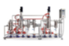 dual stage stainless steel molecular distillation system