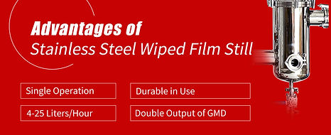advantages of stainless steel wiped film still