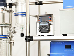 jacketed feed flask and  Peristaltic pump