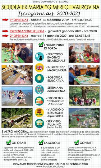 "Open day - Scuola Primaria ""G. Merlo"" Valrovina"