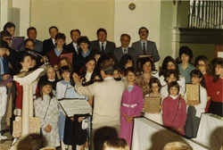 La corale nel 1982
