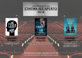 Cinema all'aperto!!