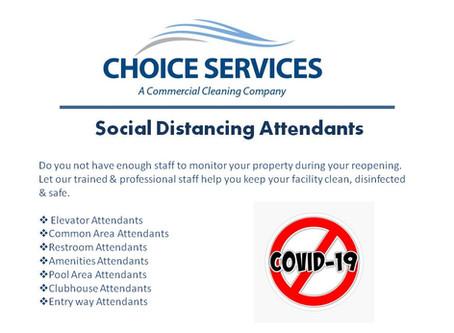 Social Distancing Attendants