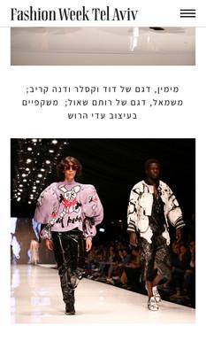 Fashion Week Tel Aviv Article