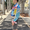 Thumbnail: GRAPHIC COTTON DRILL JACKET - BLUE COLLAR