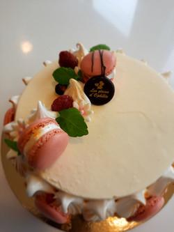 gateau vanille framboise meringue