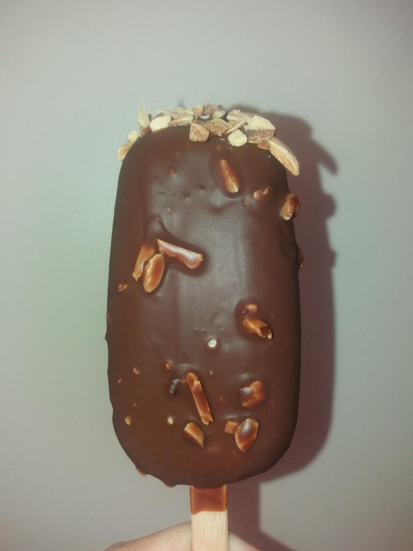 frisco vanille, enrobage chocolat amande