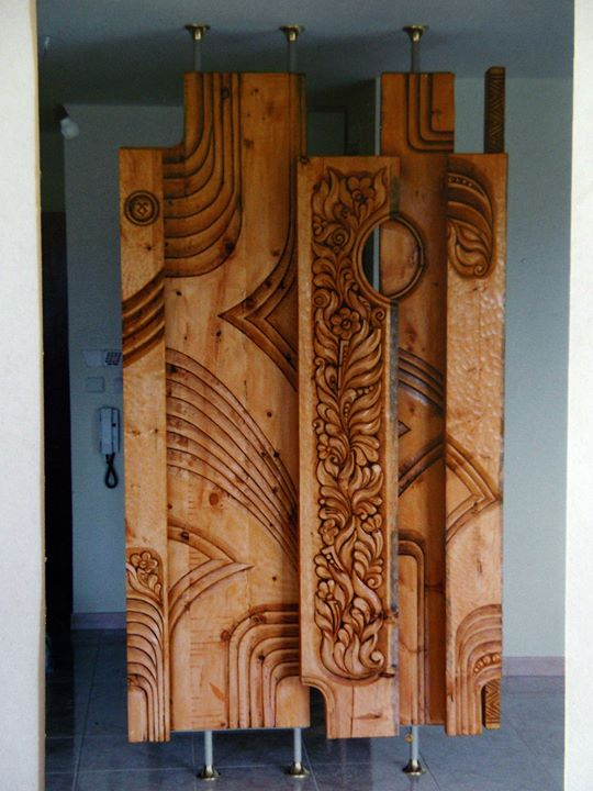 Interior Woodcarved Grid